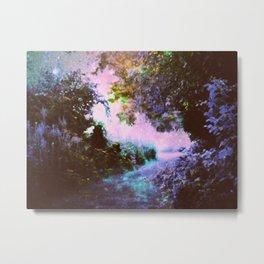 Enchanted Garden Path Metal Print
