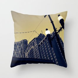 Vintage Downtown Throw Pillow