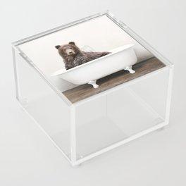 Bear in a Vintage Bathtub (c) Acrylic Box