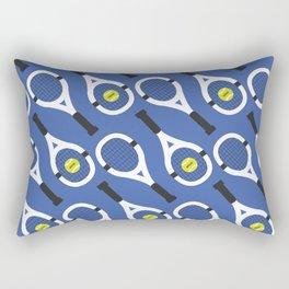 Tennis Pattern (Blue/White) Rectangular Pillow