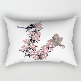 Superb Blue Wren Rectangular Pillow