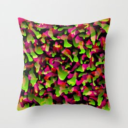 Flowing bright on from spots and splashes of pink paints. Throw Pillow