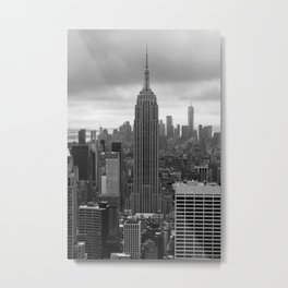 New York in B&W Metal Print