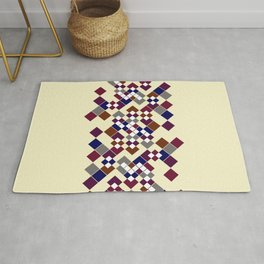 Abstract geometric pattern. Small colored squares on a beige. Rug