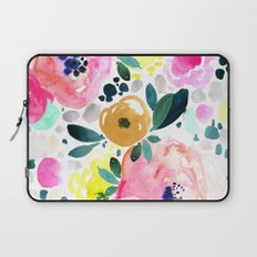 Wake Up Floral Laptop Sleeve
