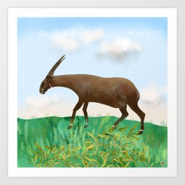 Saola - the Asian Unicorn - rarest animal on Earth Art Print
