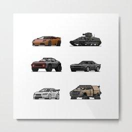 Car icon collection Vol. 1 Metal Print