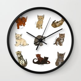 Kittens Worldwide Wall Clock