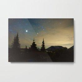 Mt St Helens at Night Metal Print
