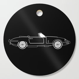 Classic Super Fast Sports Car Outline Cutting Board