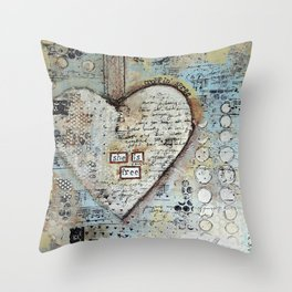 She is Free by Croppin' Spree Throw Pillow