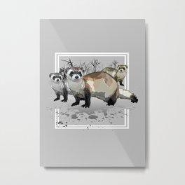 Ferrets Metal Print