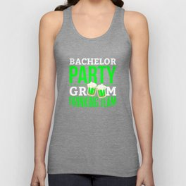 Bachelor Party Drinking Team Groom Unisex Tank Top