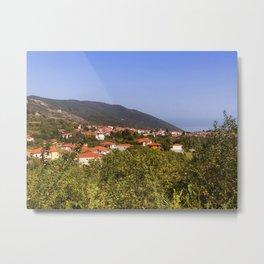 Stagira Small Village In Northern Greece Metal Print