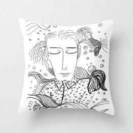 Sueños de sirenas Throw Pillow