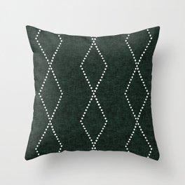 geometric diamonds - evergreen Throw Pillow