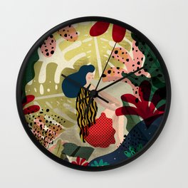 Relaxed in Jungle - The Book Lover Wall Clock