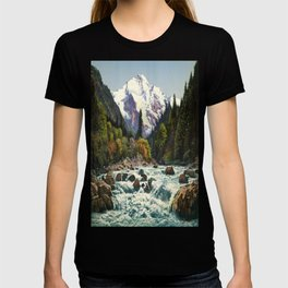 Mountains Forest Rocky River T-shirt