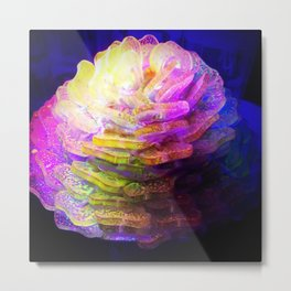 Sculpted Miniature Floral Metal Print