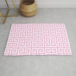 Greek Key (Pink & White Pattern) Rug