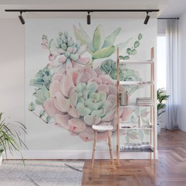 Pink Succulent by Nature Magick Wall Mural