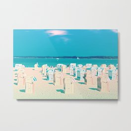 Sunny day on the Beach Metal Print