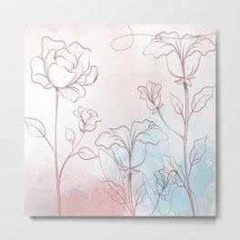 water color flowers Metal Print