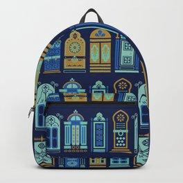 Moroccan Doors – Navy Palette Backpack