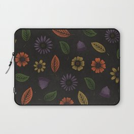 Fall Floral Pattern (MIDNIGHT) Laptop Sleeve