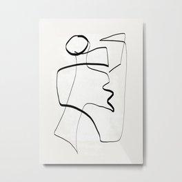Abstract line art 6 Metal Print