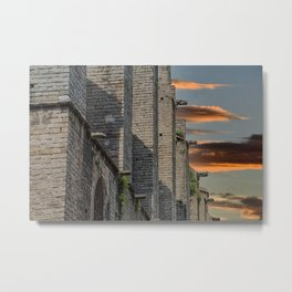 Old Stone Columns and Walls in Barcelona Metal Print
