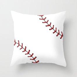 Softball Baseball design red laces Throw Pillow
