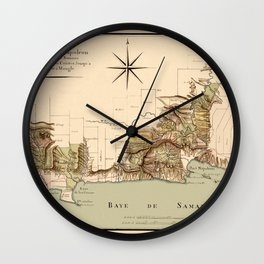 Map Of Dominican Republic 1807 Wall Clock