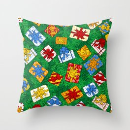 Christmas gifts pattern Throw Pillow