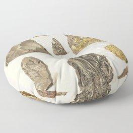 Vintage Gold Minerals Floor Pillow
