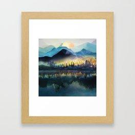 Mountain Lake Under Sunrise Gerahmter Kunstdruck