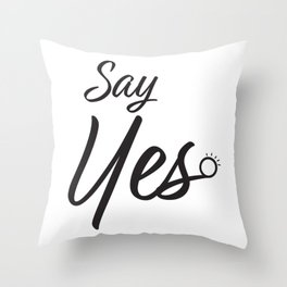 Say Yes Marriage Proposal Throw Pillow