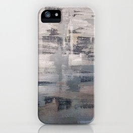 Silver and Blue iPhone Case