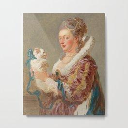 A Woman with a Dog, Jean Honore Fragonard, 1769 Metal Print