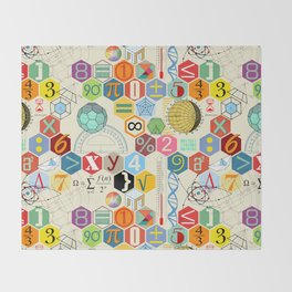 Math in color Throw Blanket