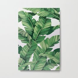 Tropical banana leaves VI Metal Print