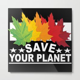 Nature Conservation Environmental Protection Metal Print
