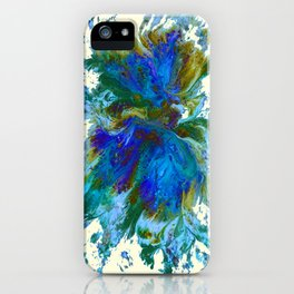 Butterflies are free in teal, blue, green and cream iPhone Case
