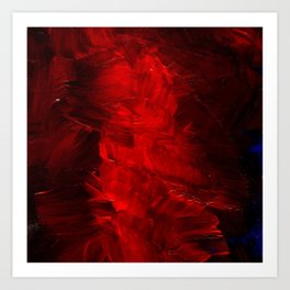 Red Abstract Paint | Corbin Henry Artist Art Print