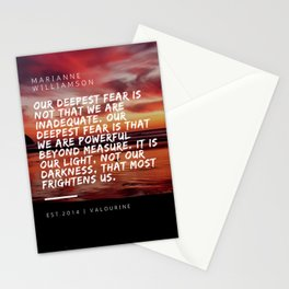 Marianne Williamson Quote | We Are Powerful Beyond Measure Stationery Cards