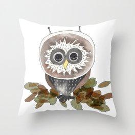 Owl - Sleeping Animals Throw Pillow