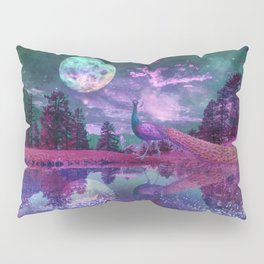 Surreal World With Peacock Pillow Sham