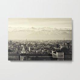 Turin, Italy Skyline Cityscape Panoramic Photograph Metal Print
