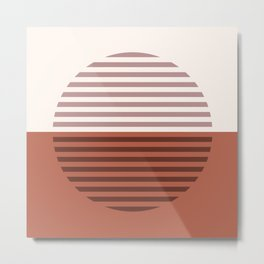 Horizons The Sun & The Moon - Terracotta Brown Earth Tones Metal Print
