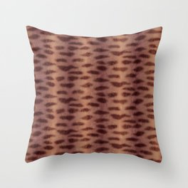 Tiger Shark Skin (Rust Color) Throw Pillow